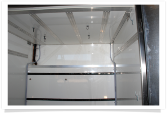 Internal picture of an eisbox refrigerated shipping container
